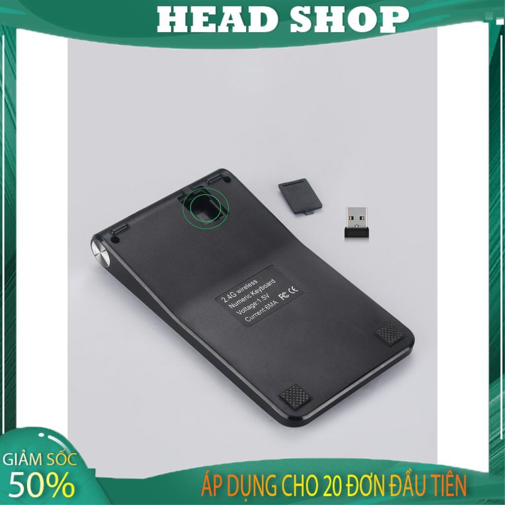 Bàn phím số rời không dây kiêm máy tính 2 chức năng cho máy tính, Laptop có thể sạc lại mã NMD535 HEAD SHOP