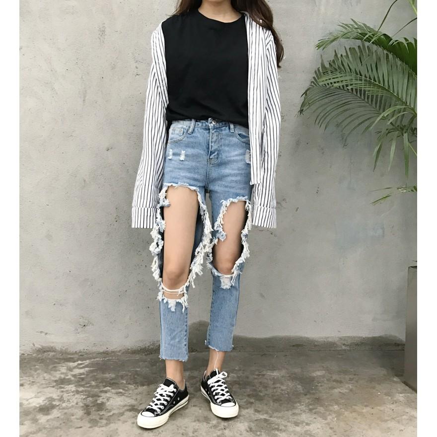 quần baggy rách cá tính Quảng Châu order