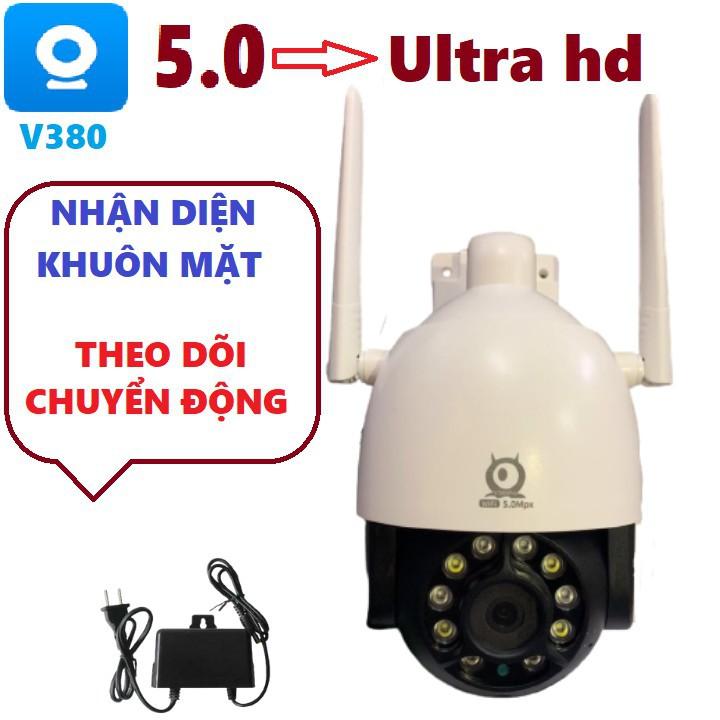 Camera ip wifi V380 PRO C12  5.0 mpx ngoài trời- xoay 360- xem đêm có màu