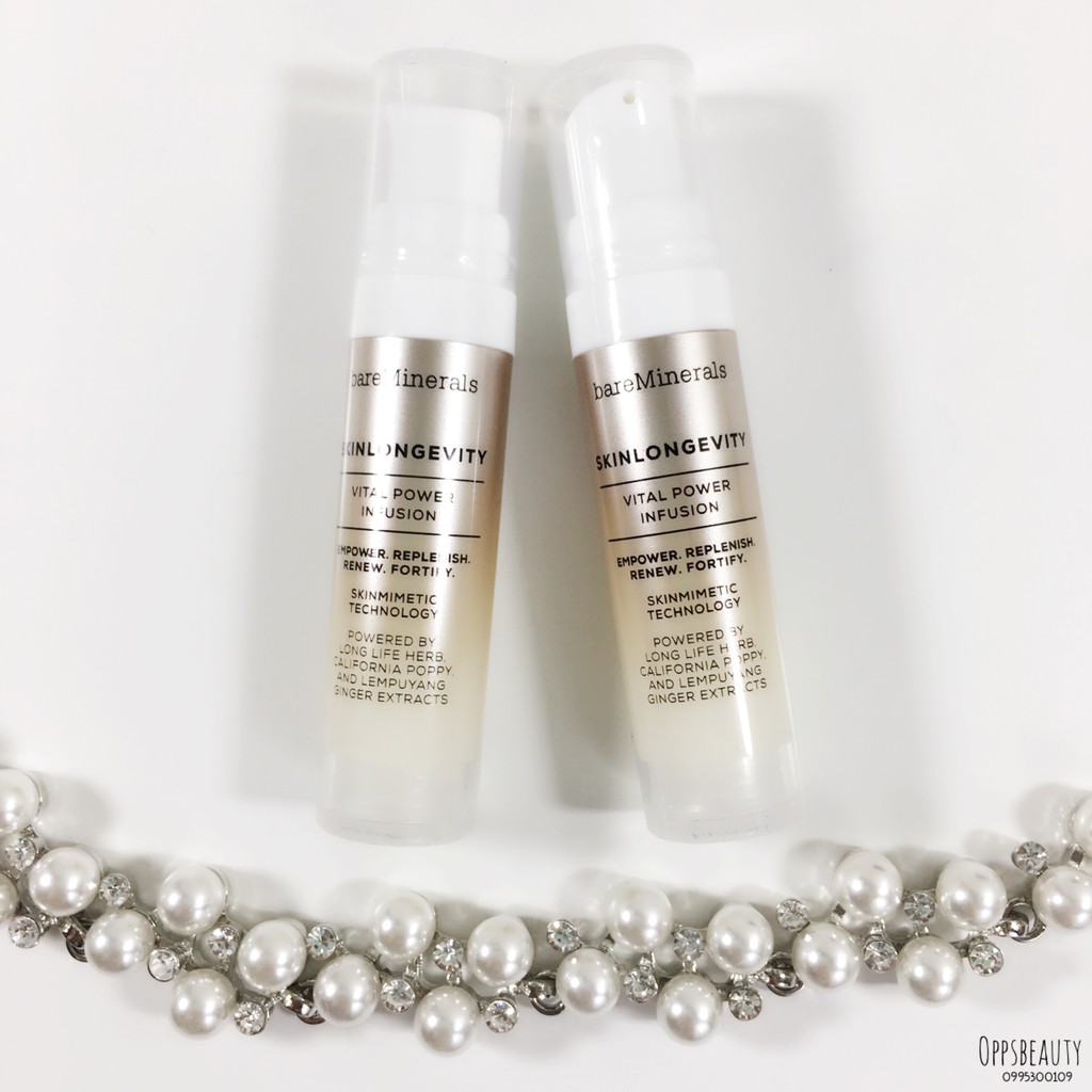 [Bare Minerals] Tinh chất dưỡng da Skinlongevity Vital Power Infusion Serum - 2665925 , 396141628 , 322_396141628 , 200000 , Bare-Minerals-Tinh-chat-duong-da-Skinlongevity-Vital-Power-Infusion-Serum-322_396141628 , shopee.vn , [Bare Minerals] Tinh chất dưỡng da Skinlongevity Vital Power Infusion Serum