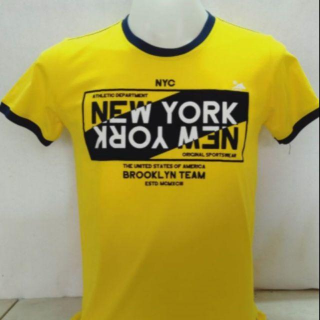 เสื้อยืด Ceo Brand ลาย New York สีเหลือง