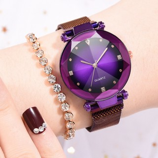 Đồng hồ dây lưới nam châm thời trang nữ Ulzzang F803
