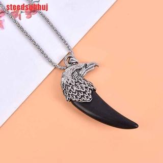 (TTY-COD)2020 Fashion EAGLE HEAD Pendant on Adjustable Black Cord Necklace Bird Jewelry