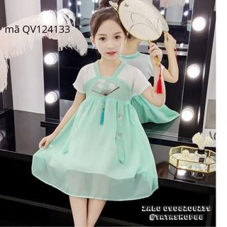 Váy bé gái kiểu Hàn Quốc dễ thương