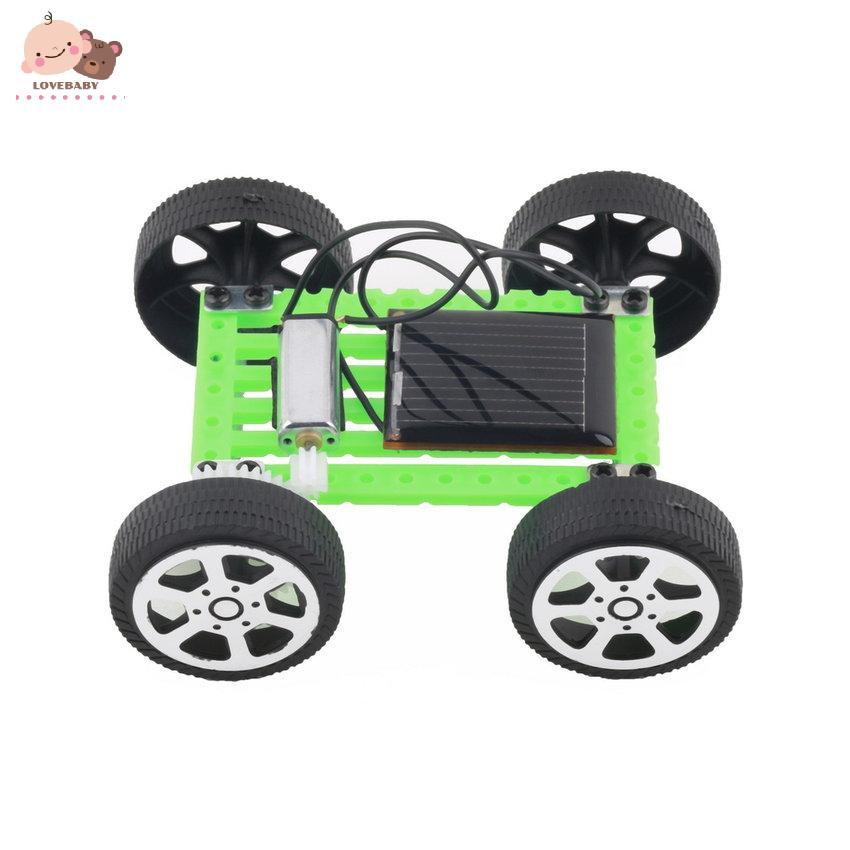 1Pc Mini Solar Toy DIY Car Children Educational Puzzle IQ Gadget Hobby