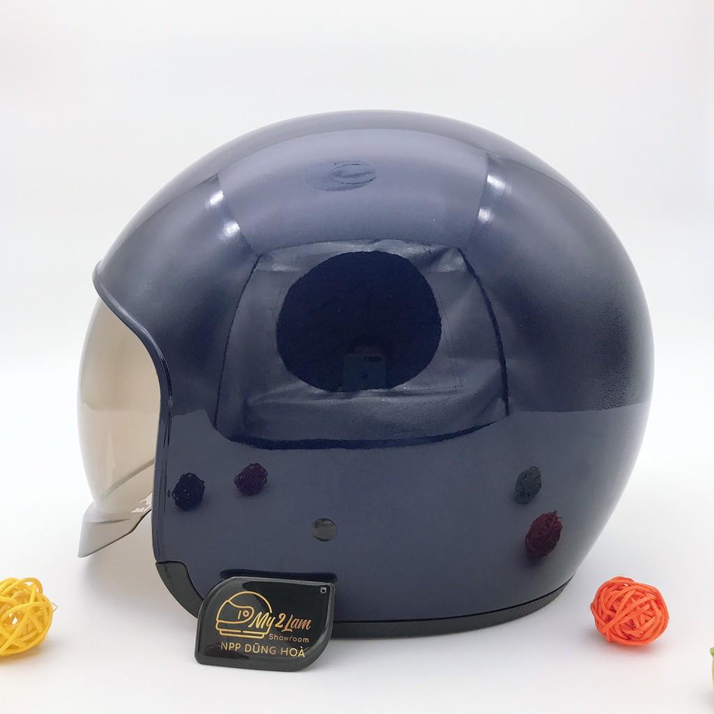 Mũ bảo hiểm 3/4 kính âm Royal M139 xanh mực bóng (tặng kèm túi đựng)