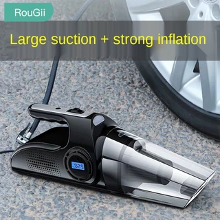 RouGii car four-in-one wireless vacuum cleaner air pump charging Home dual-purpose powerful dedicated pump for bike dust collector vacuum cleaner for car