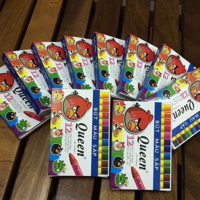 Combo 10 hộp Bút sáp màu 12 màu Queen
