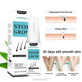 20ml Effective Painless Moisturizing Permanent Shrink Pores Stop Growth Face Legs Hair Removal Spray