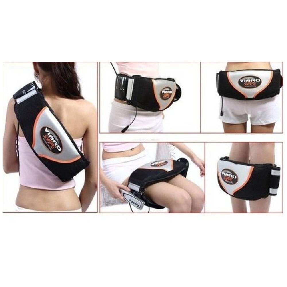 Đai Massage vipro shape rung và nóng giảm mỡ hiệu quả + Tặng đèn led siêu sáng