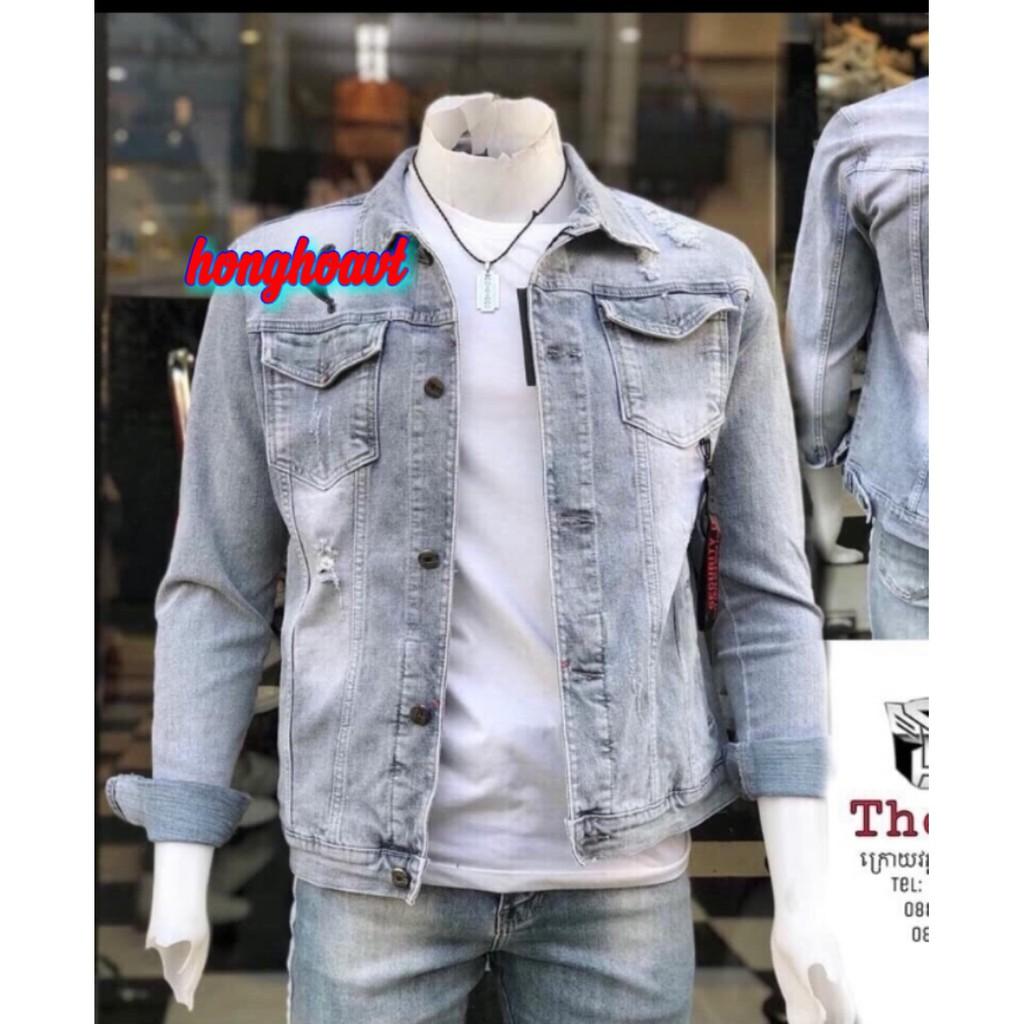 Áo Jean Nam Phong Cách Siêu Cool 2019 - Áo khoác jeans