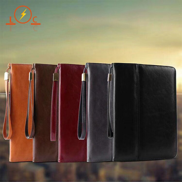 Ipad9.7 Protective Cover Air Tablet Mini Leather Card Pro Lanyard Holster case