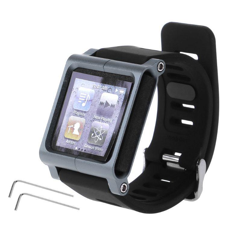 Dây đeo kim loại nhôm cho đồng hồ thông minh Apple iPod Nano 6 6th