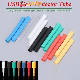 (Hàng Mới Về) Thỏi Son Lì May Mắn Cao Cấp🔆 Set 12 Ống Co Nhiệt Bảo Vệ Dây Cáp USB Nhiều Màu Sắc