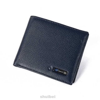 Wallet Artificial Cowhide Leather Smart Fabala Anti-lost GPS Locator Purse Anti-theft