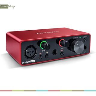 [Mã ELMS3TR giảm 7% đơn 2TR] Sound card thu âm chuyên nghiệp cho phòng thu Focusrite Scarlett Solo Gen 3