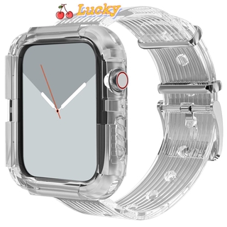 Dây Silicone Trong Suốt Cho Đồng Hồ Iwatch 38mm 42mm 40mm 44mm
