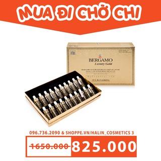 Tinh chất dưỡng trắng da FREESHIP Tinh chất dưỡng trắng da set 20 ống collagen trứng cá muối BERGAMO HALIN882 Cao Cấp