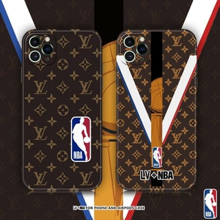 Fashion Jordan IMD Silicon Soft Case For iPhone 11 Pro Max 8 Plus 7 XR XS X Silicone Lens Protection 12 Pro Max SE 2020 Cover