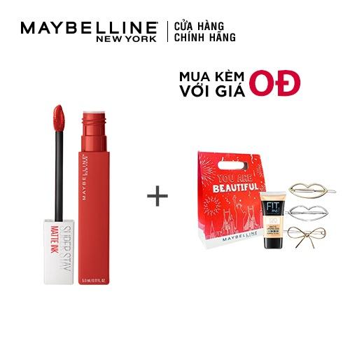 [COSMALL05 -8% ĐH250k]Son Kem Lì 16h Lâu Trôi Maybelline New York Super Stay Matte Ink 5ml