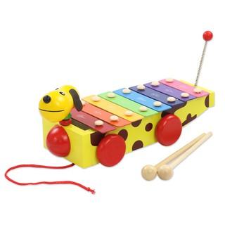 Đồ Chơi Đàn gõ Xilophone 8 thanh hình chú Chó màu Vàng – TG36
