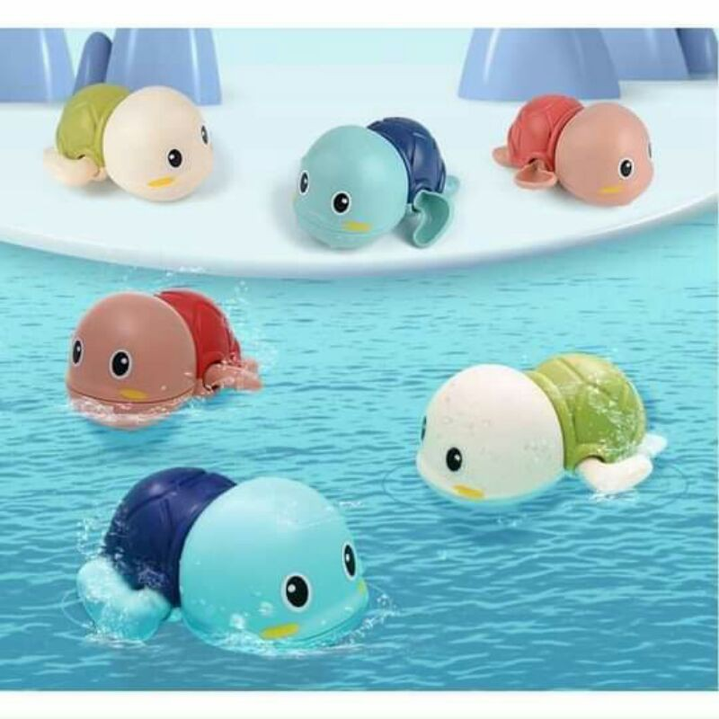 💐💐 [ĐÁNG YÊU] Rùa bơi đáng yêu cho bé – đồ chơi nhà tắm dễ thương