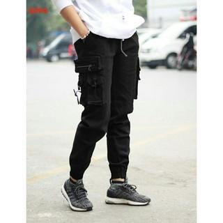 Quần jogger vải kaki co giãn xịn khóa zip túi hộp cực chất