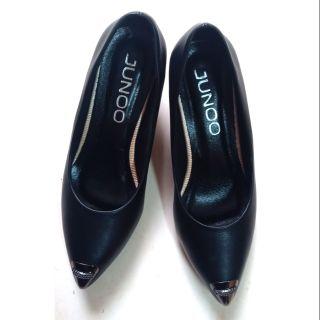 Giày nữ cao gót 5 phân mũi đính kim loại sáng chảnh