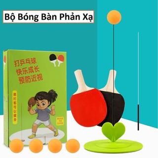 Bộ bóng bàn phản xạ không cần bàn luyện tập trung cho trẻ, xả tress bộ đồ chơi thể thao cho bé rèn luyện thể chất thumbnail
