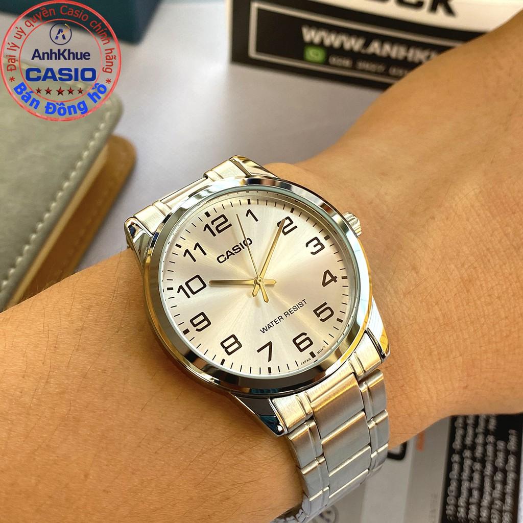 Đồng hồ nam Casio MTP-V001 MTP-V001D MTP-V001GL MTP-V001SG bảo hành 1 năm chính hãng