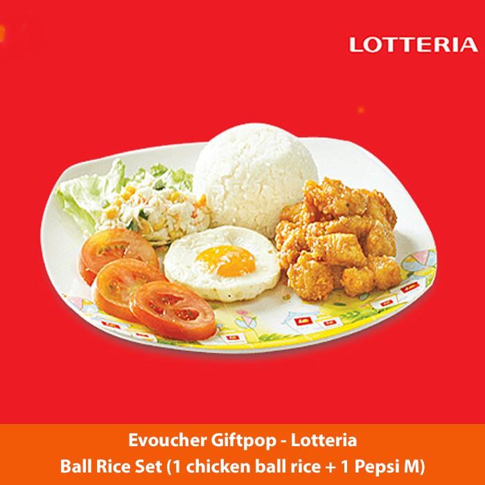 Toàn quốc [Evoucher] Cơm gà Ball Rice Set (1 chicken ball rice + 1 Pepsi M) tại cửa hàng LOTTERIA