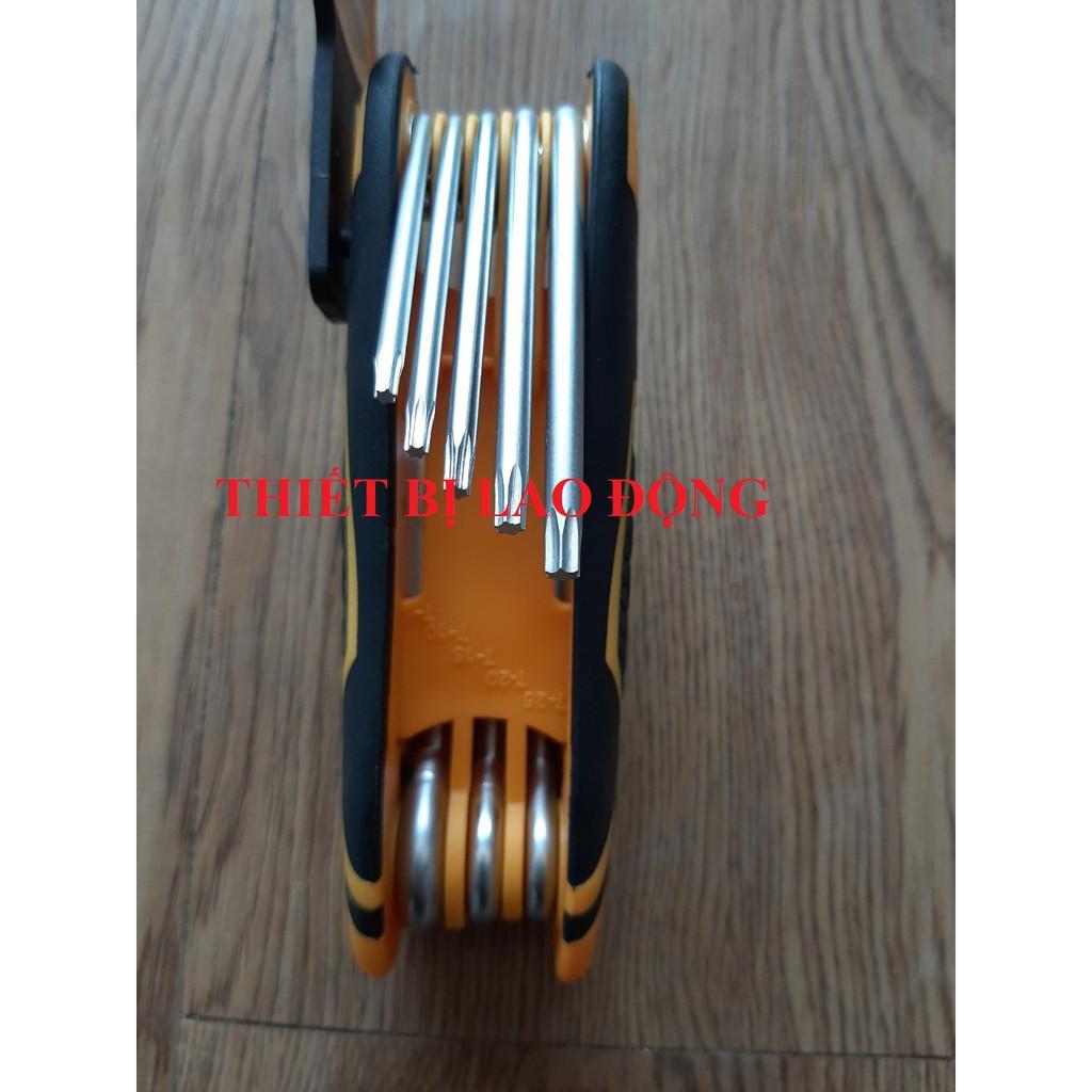 Bộ 8 chìa lục giác bông Ingco HHK14083 size T9-T40