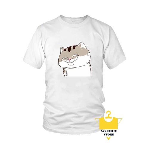 Áo thun in hình Mèo Ami Bụng Bự Dễ Thương.