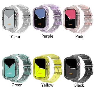 Dây Nhựa Trong Suốt Cho Đồng Hồ Thông Minh Apple Watch Series 6 Se 5 4 3 2 1 38mm 40mm 42mm 44mm thumbnail