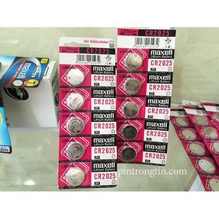 Vỉ pin 2025 Maxell CR2025 - Pin 3v Lithium