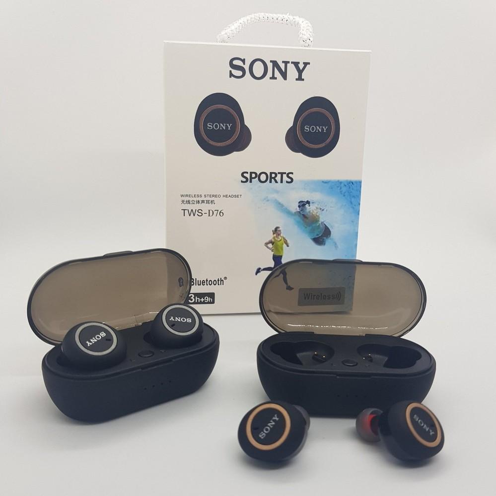 Tai Nghe Bluetooth Mini𝙎𝙞𝙚̂𝙪 𝘽𝙚̂̀𝙣Tai Nghe Sony Hàng Chính Hãng Siêu  Bass - Tai Nghe Không Dây Khử Ồn Kháng Nước chính hãng 225,000đ