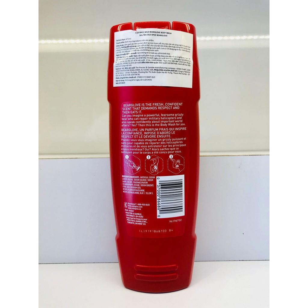 [FREESHIP-HÀNG AUTH] Sữa Tắm Old Spice Bearglove 473ml