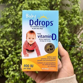 Baby D drop Vitamin D3 25ml (90 giọt)