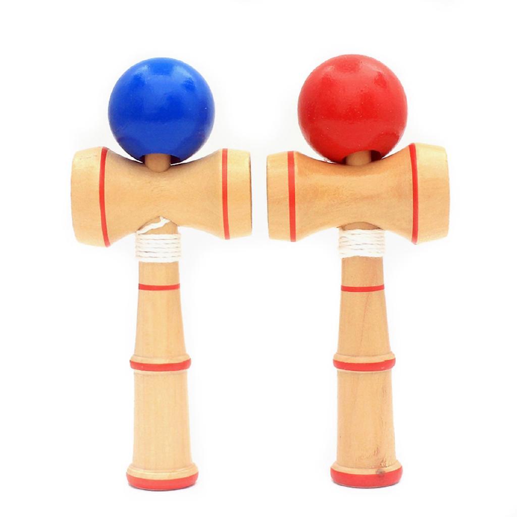 Đồ chơi tung hứng Kendama Nhật Bản gỗ 13cm (Màu Ngẫu Nhiên)
