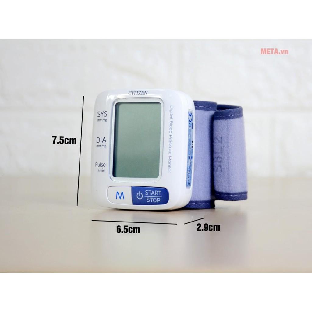 [Nhật Bản] Máy Đo Huyết Áp Điện Tử Cổ Tay Citizen CH-650 - Bộ nhớ 60 kết quả đo