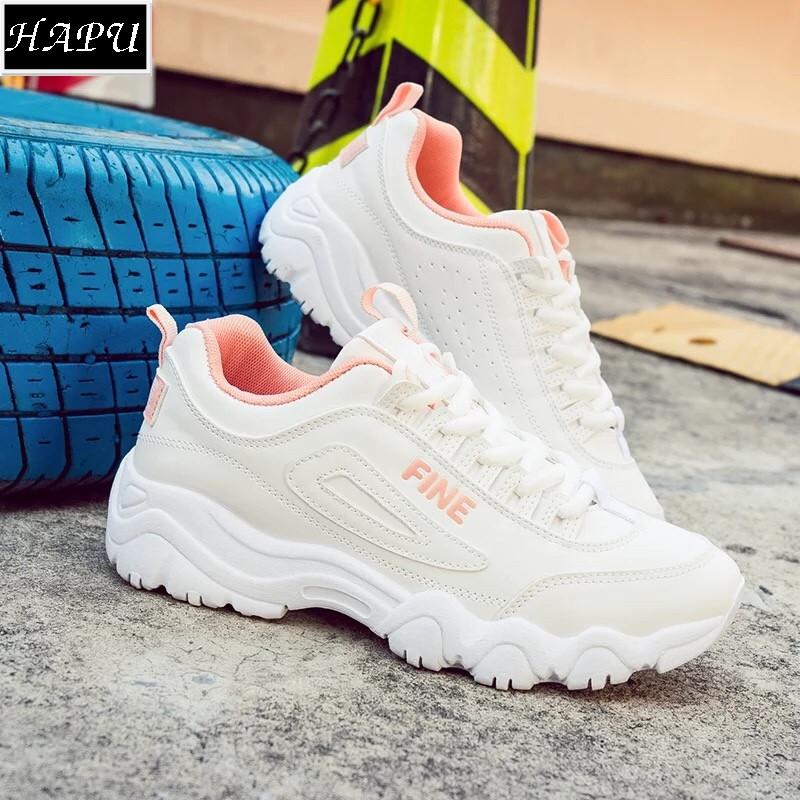 FREE SHIP, (Video + Hình thật) Giày sneaker nữ FINE Hot trend chất đẹp HAPU (2 màu)