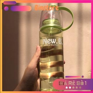 Bình nước, Bình nước phun sương thể thao 600ml, có loại dễ thương dành cho các bé, nhựa PP an toàn