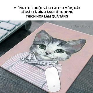 [26 x 21 cm] Miếng Lót Chuột Vải Nhiều Hình Dễ Thương, Đế Cao Su Việt Nam Chống Trượt, Mousepad Mềm Dày (Hình Tự Chụp) thumbnail