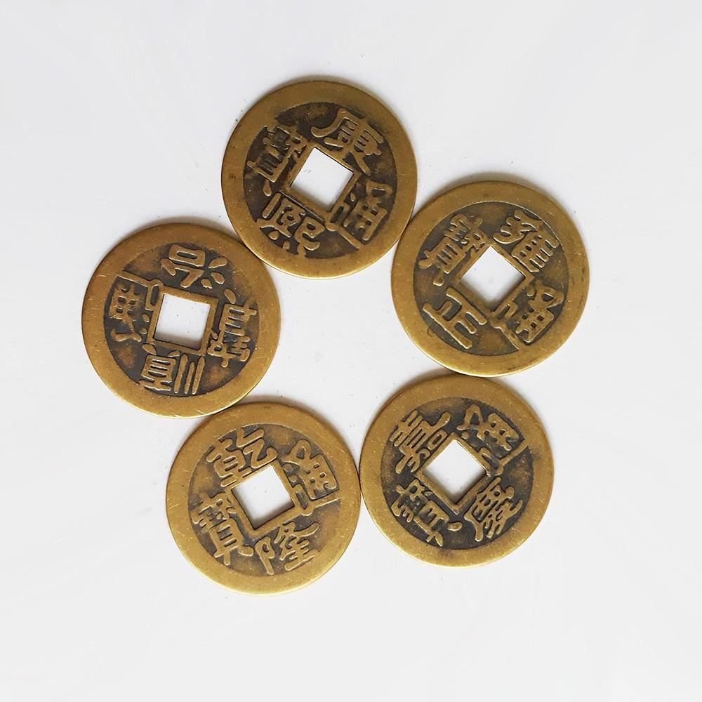 Đồng tiền xu phong thủy may mắn giá rẻ bằng đồng thau (1 đồng xu)