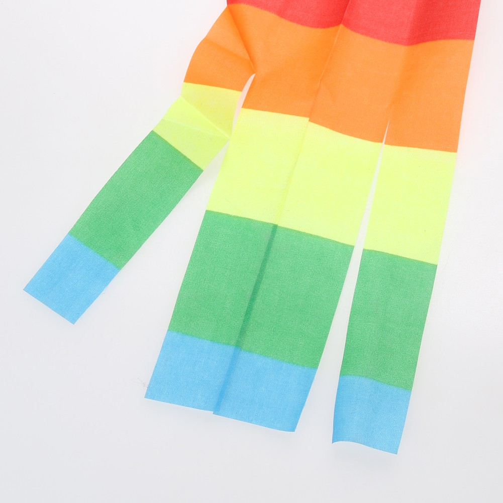 [CARE] Colorful Rainbow Kite Long Tail Nylon Outdoor Kites Flying Toy for Children