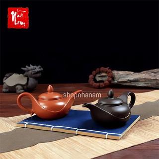 Ấm trà tử sa Nghi Hưng độc đáo hình dáng đèn thần phụ kiện bàn trà