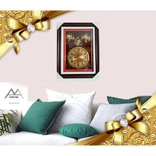 Tranh đẹp _Đồng hồ treo tường tranh đá si vàng mặt gỗ [ 5 MẪU ] cao cấp cỡ 50x70, sang trọng _quý phái _ nổi bật.