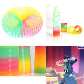 1Pcs Magic Slinky Plastic Rainbow Springs Bounce Children FunToy