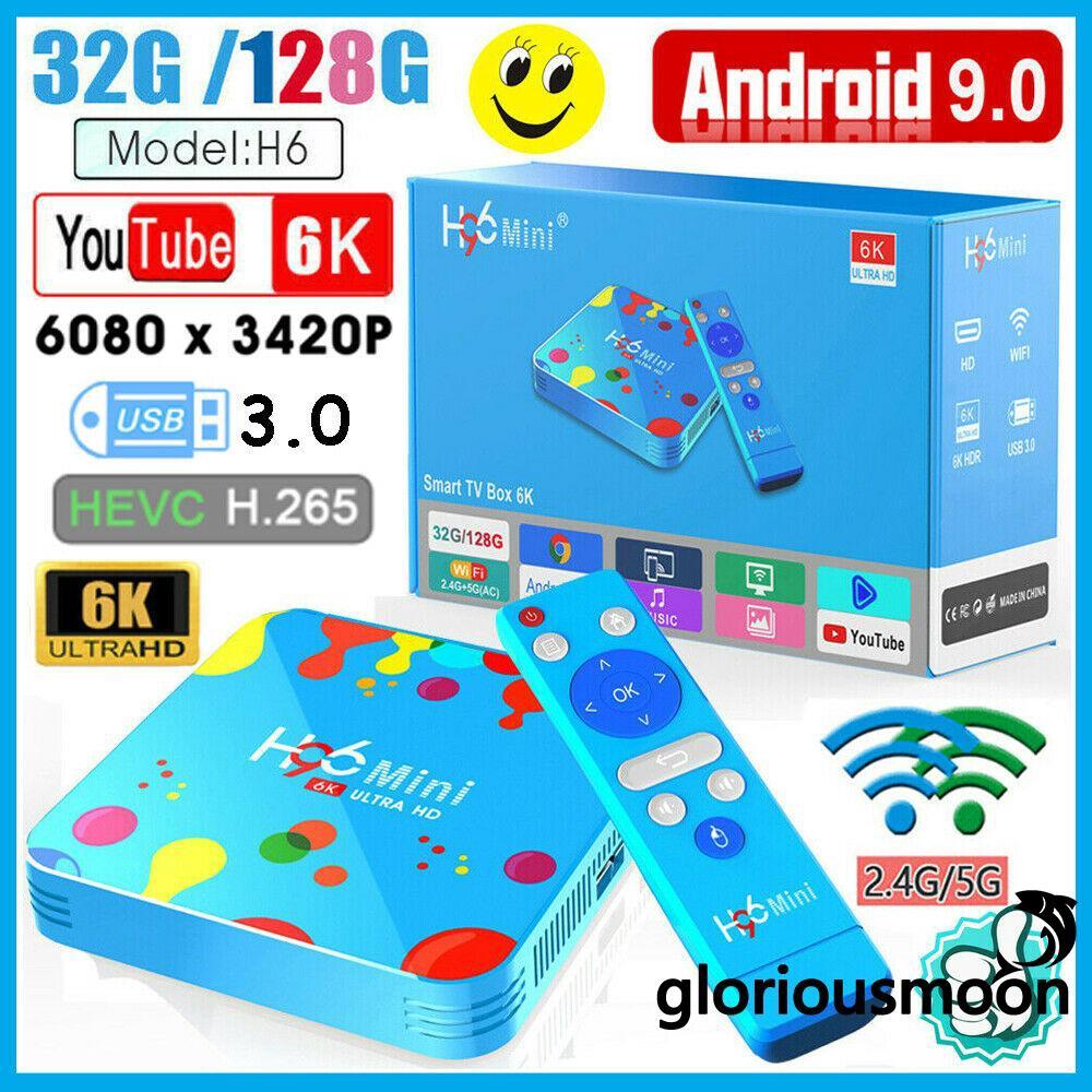 ❄❅❆Android 9.0 Smart TV Box Newest 6K HD Quad Core 4GB+168GB H.265 3D Media Player