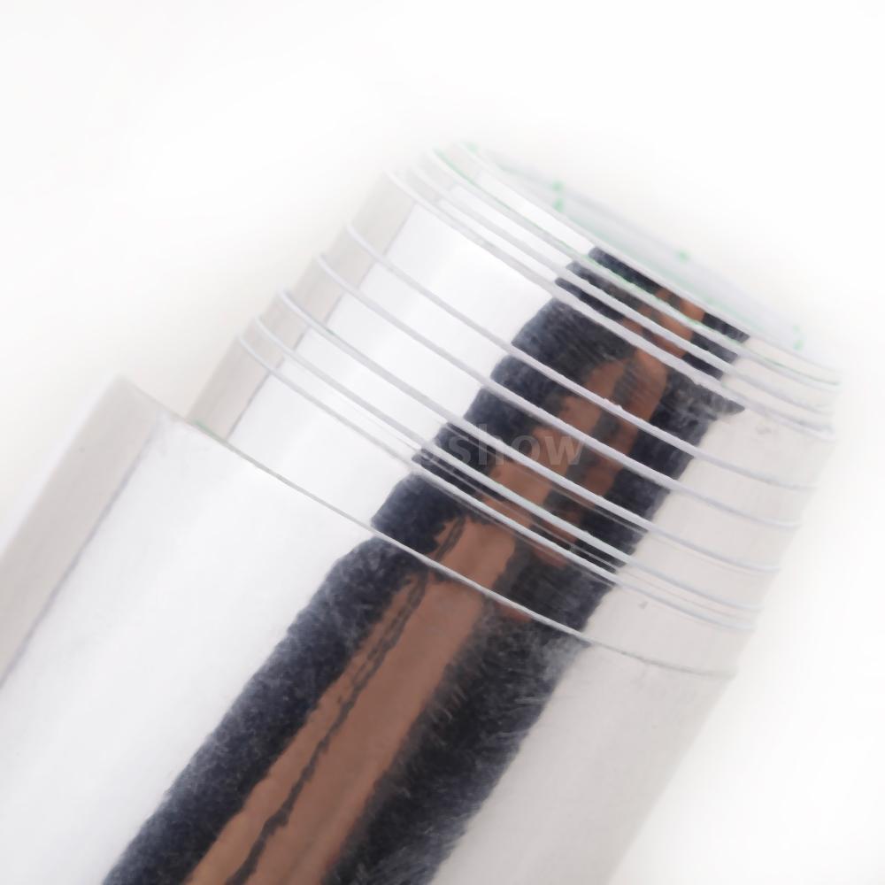 Tsm 12″ * 60″ Chrome Mirror Silver Vinyl Wrap Sticker Decal Film Sheet Self-adhesive Air Bubble Free
